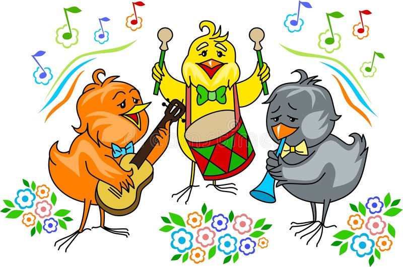 Chicken band vector illustration