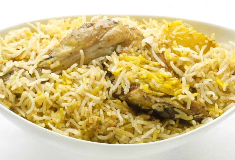 Chicken biriyani. Yummy delicious indian chicken biriyani stock images