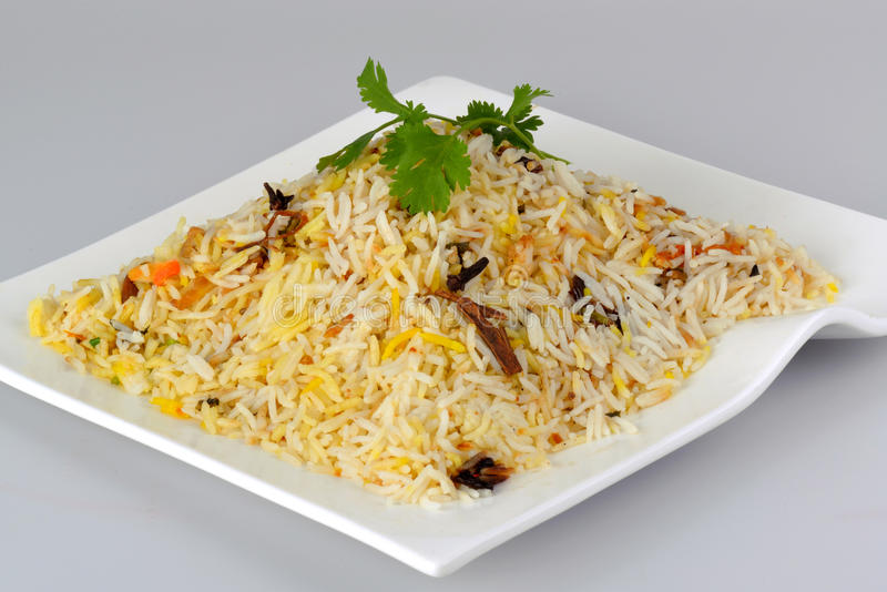 Chicken biriyani. Yummy delicious indian chicken biriyani royalty free stock photography