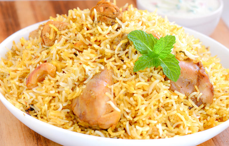 Chicken Biryani royalty free stock images