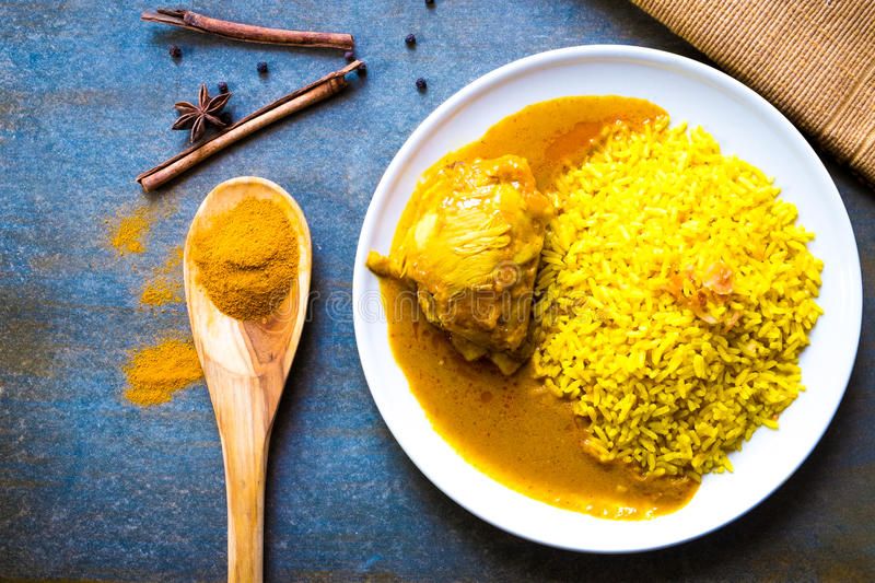 Chicken Biryani with rice royalty free stock photos