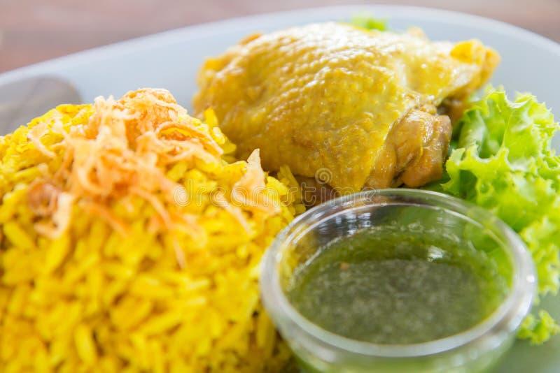 Chicken Biryani. Selective focus to Chicken Biryani royalty free stock photo
