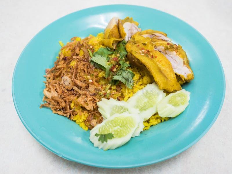 Chicken Biryani. Thai style.(Khao Mok Gai stock photography