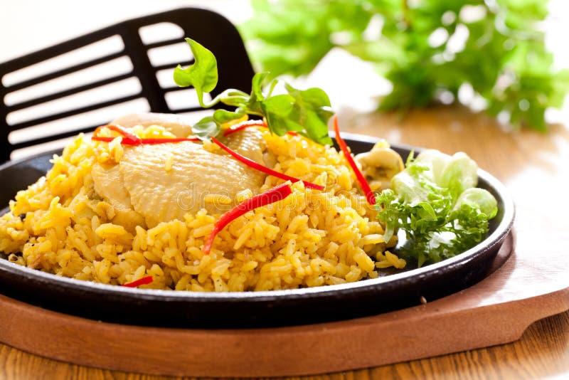 Chicken Biryani,traditional food. Chicken Biryani asian style. halal food royalty free stock images