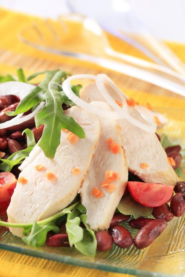 Download Chicken Breast Fillet With Lentil And Bean Salad Stock Photo - Image of vegetable, fillet: 32293684