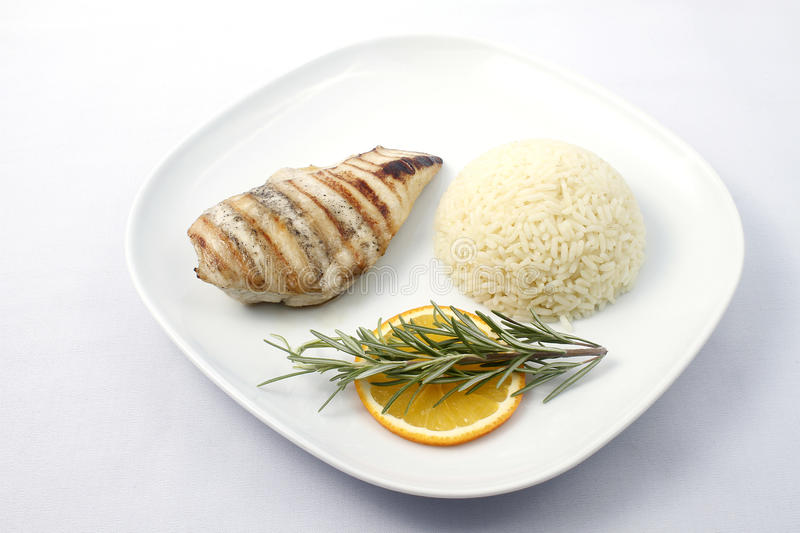 Chicken breast with rice