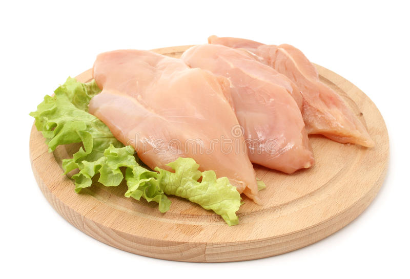 Chicken breasts. Isolated on white royalty free stock images