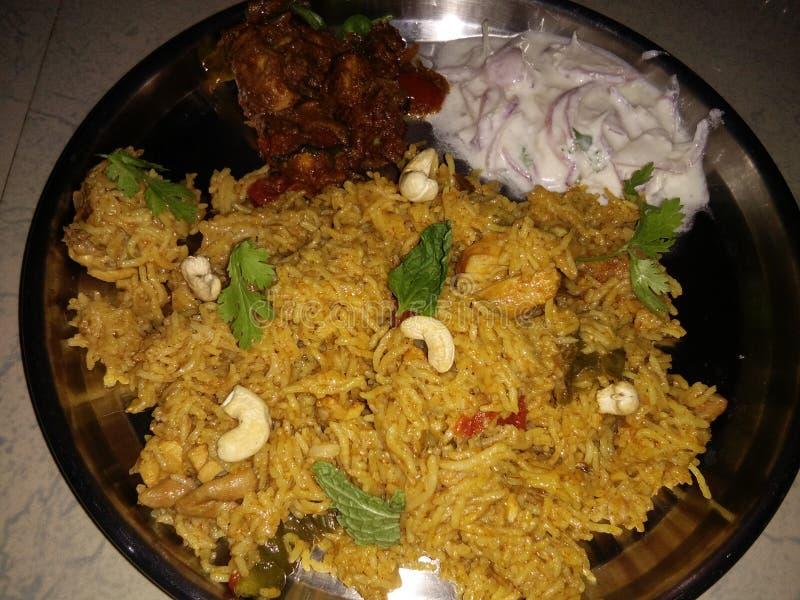 Chicken Briyani. stock photos