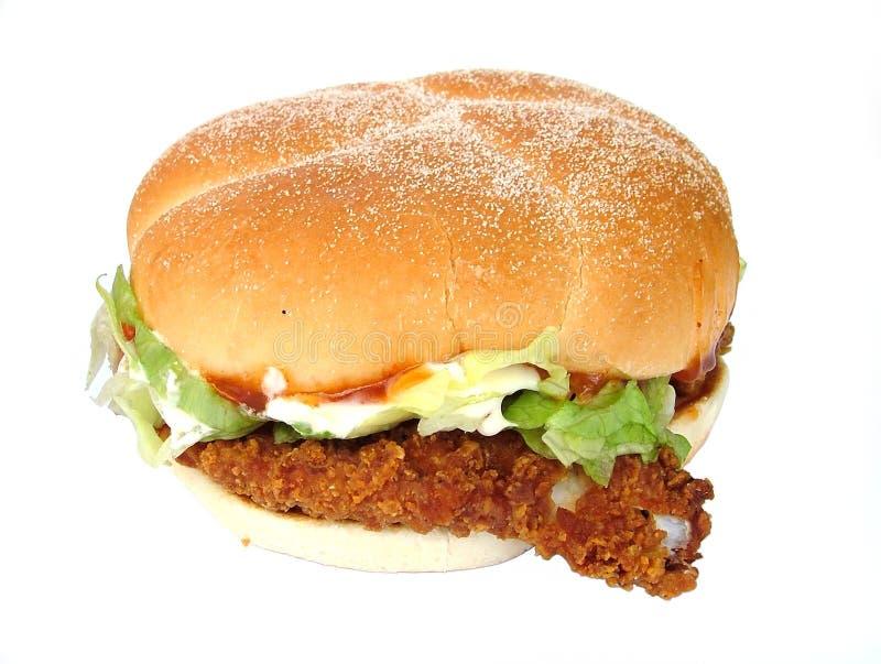 Chicken burger stock photography