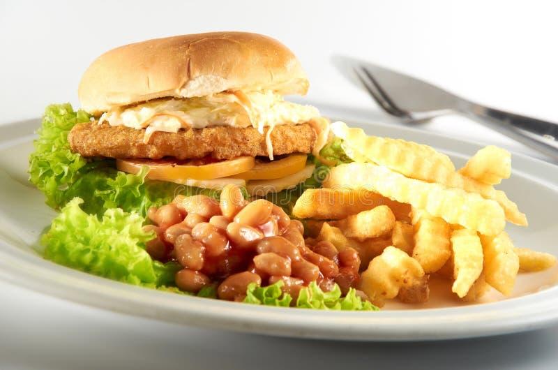 Chicken Burger royalty free stock image