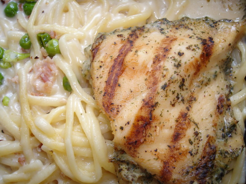 Chicken Carbonara One stock photos