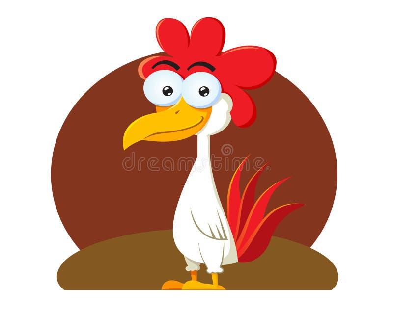 Funny Chicken Cartoons: Funny Chicken Cartoon Character Stock Vector