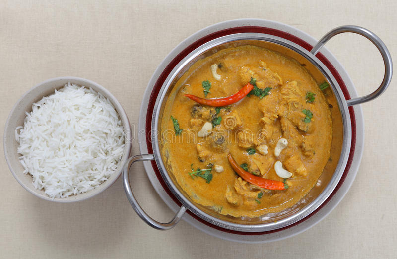 Download Chicken Cashew Curry From Above Stock Photo - Image of indian, above: 24641560