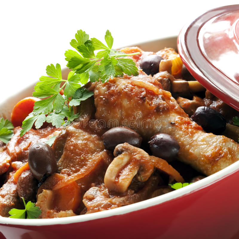 Download Chicken Casserole stock photo. Image of meat, phot, black - 14861210