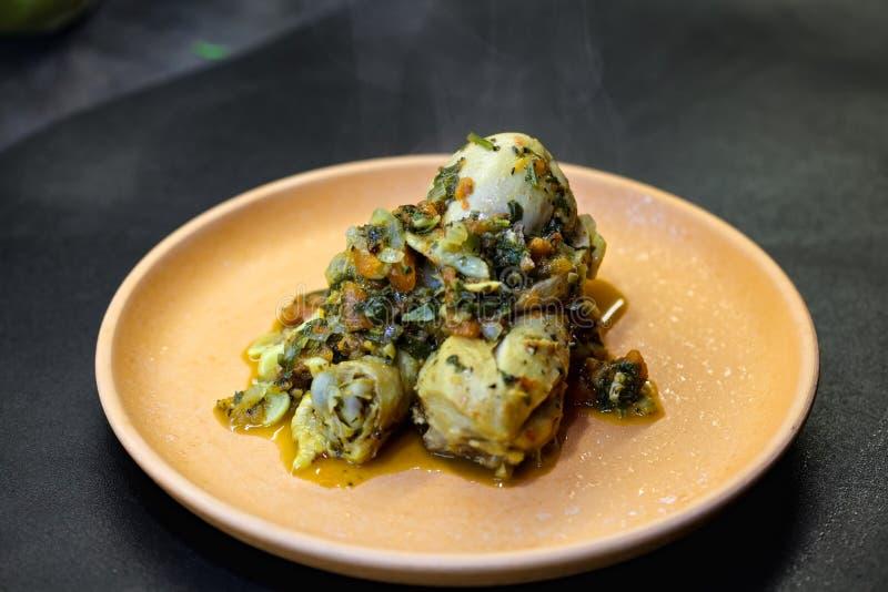 Chicken chakhokhbili dish royalty free stock photo