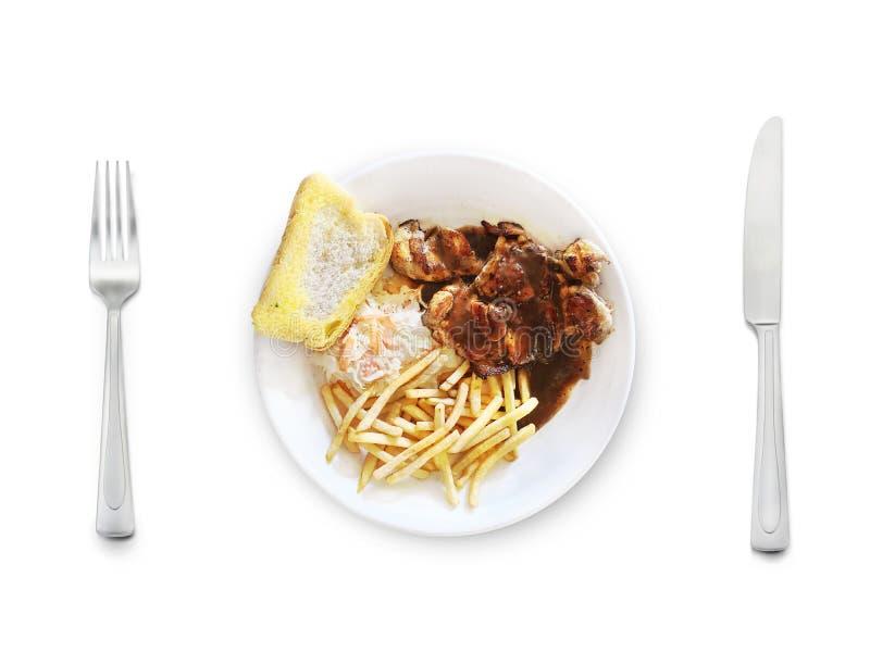 Western food series royalty free stock image