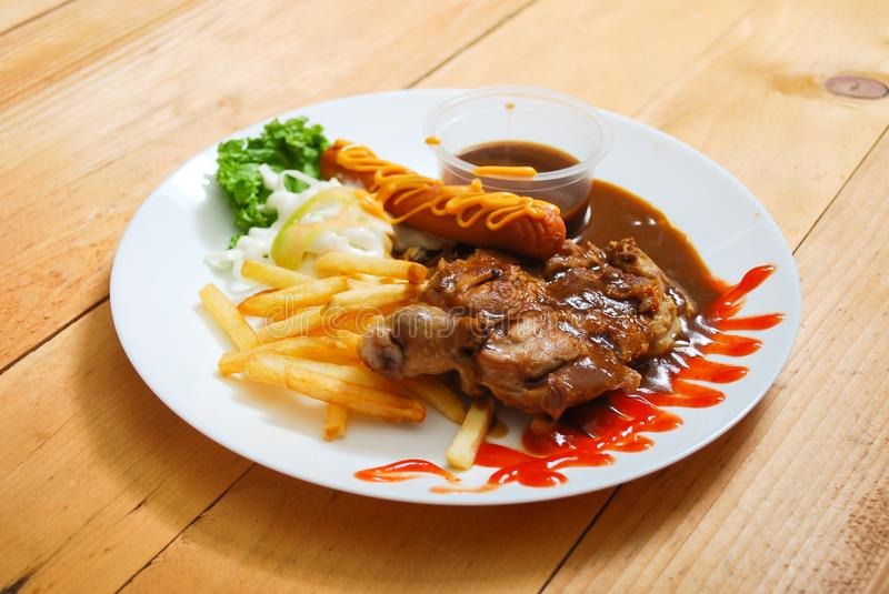 Chicken chop serving on plate stock photo image of background download chicken chop serving on plate stock photo image of background cuisine 111611682 forumfinder Images
