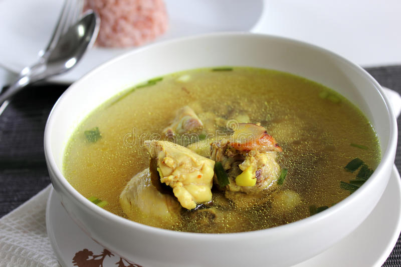 Download Chicken Clear soup stock photo. Image of cooking, homemade - 26057024