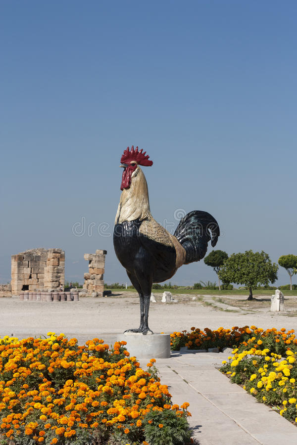 Chicken Rooster Statue At At Pamukkale Turkey Pamukkale