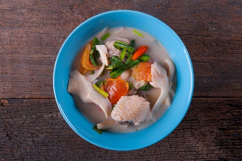 Chicken Coconut Soup Tom Kha Gai. Thai Chicken Coconut Soup Tom Kha Gai stock photos
