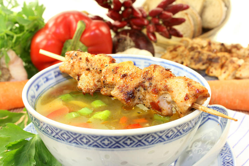Chicken consomme royalty free stock photo