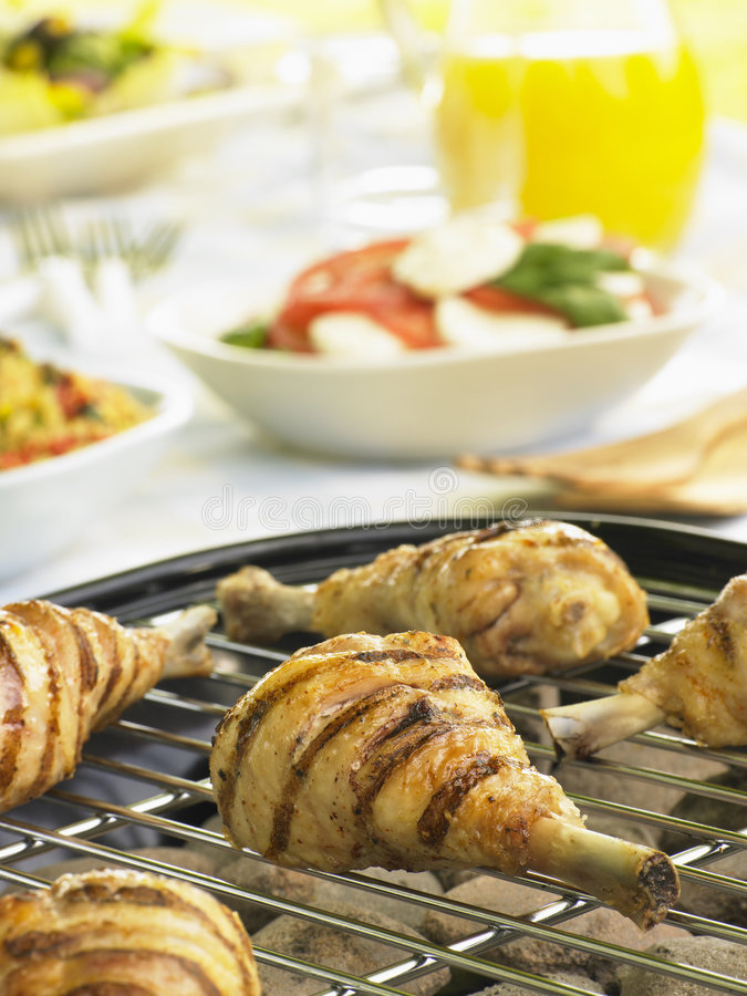 Download Chicken Cooking On A Grill stock photo. Image of cooking - 8755414