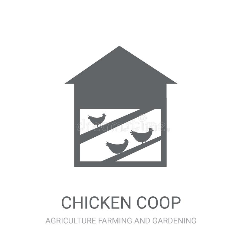 Chicken coop icon. Trendy Chicken coop logo concept on white background from Agriculture Farming and Gardening collection vector illustration