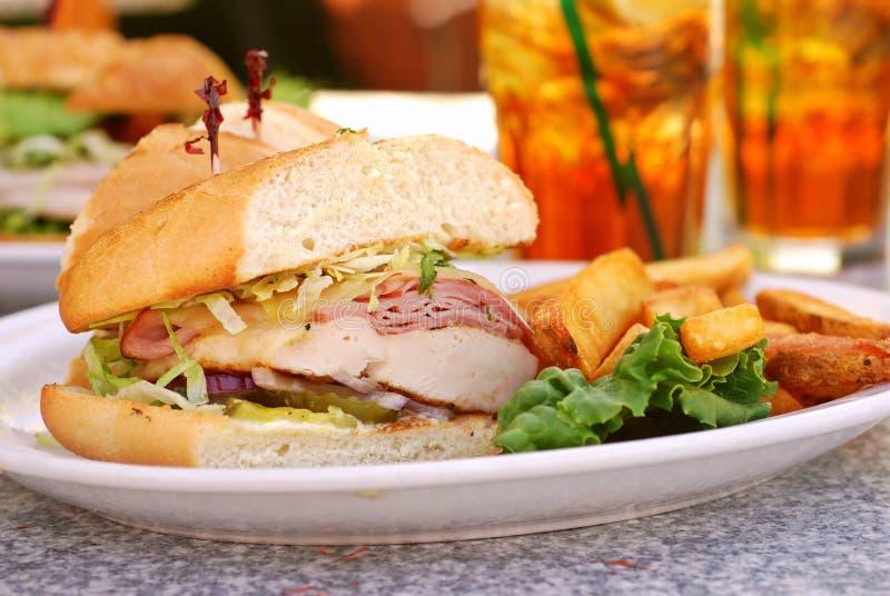Chicken Cordon Bleu Sandwich stock photos