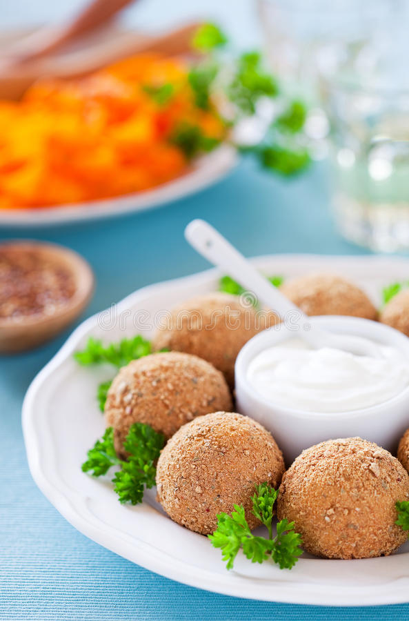 Free Chicken Croquettes Royalty Free Stock Photo - 27006925
