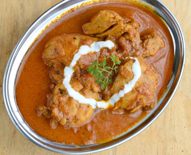 Chicken Curry. Indian Dish of Chicken curry stock photo
