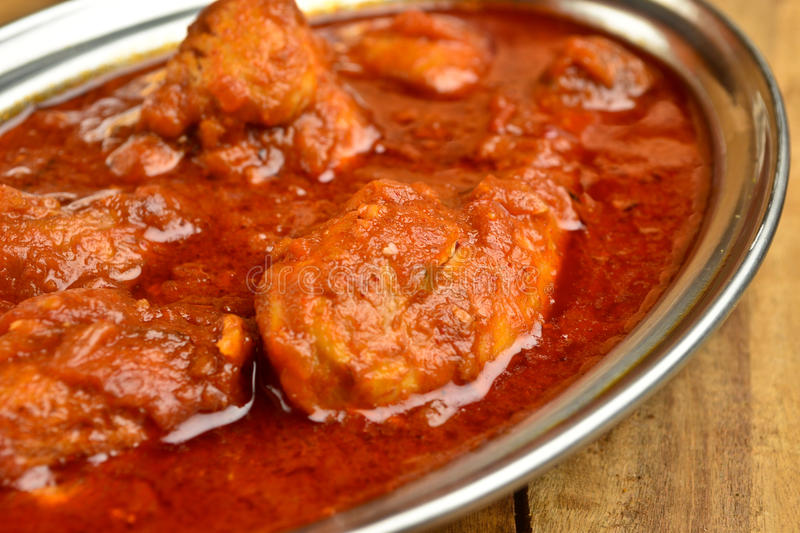 Chicken Curry. Indian Dish of Chicken curry in red curry royalty free stock photo