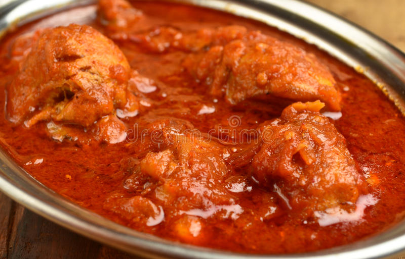 Chicken Curry. Indian Dish of Chicken curry in red curry royalty free stock images