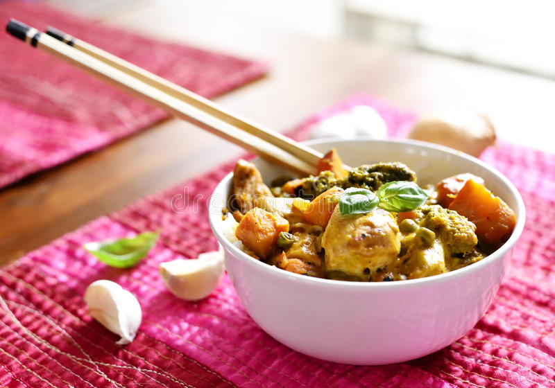 Chicken curry our thai food stock images