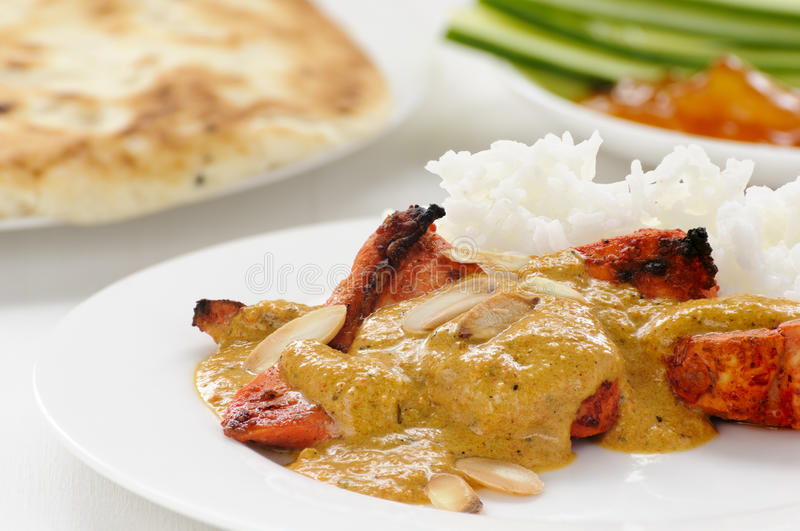 Chicken curry with rice royalty free stock images