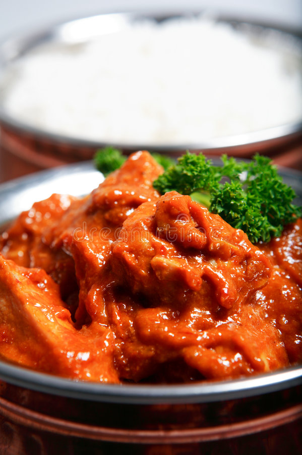 Download Chicken Curry And Rice Dinner Stock Photo - Image: 3906372