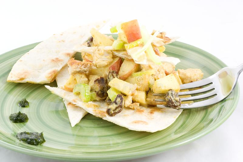 Chicken curry salad royalty free stock photography