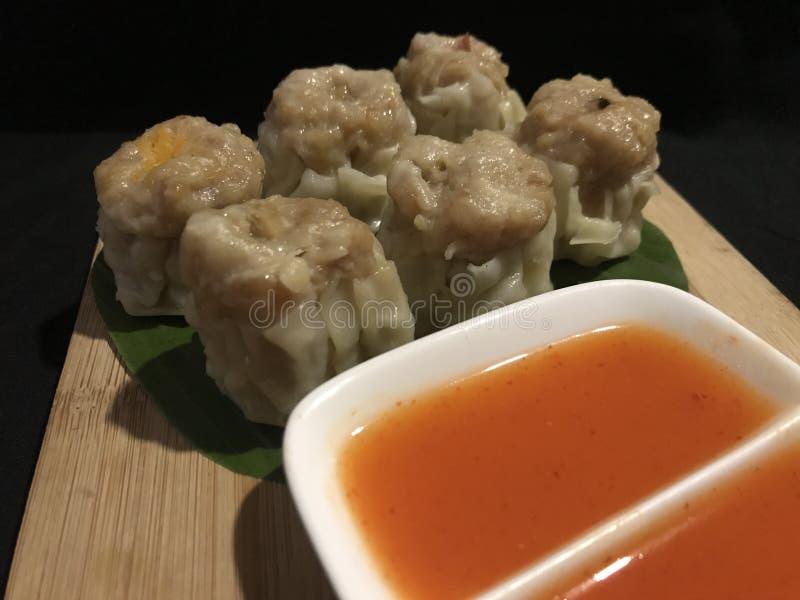 Chicken Dim Sum Steamed Chicken stuffed Dumplings royalty free stock photography