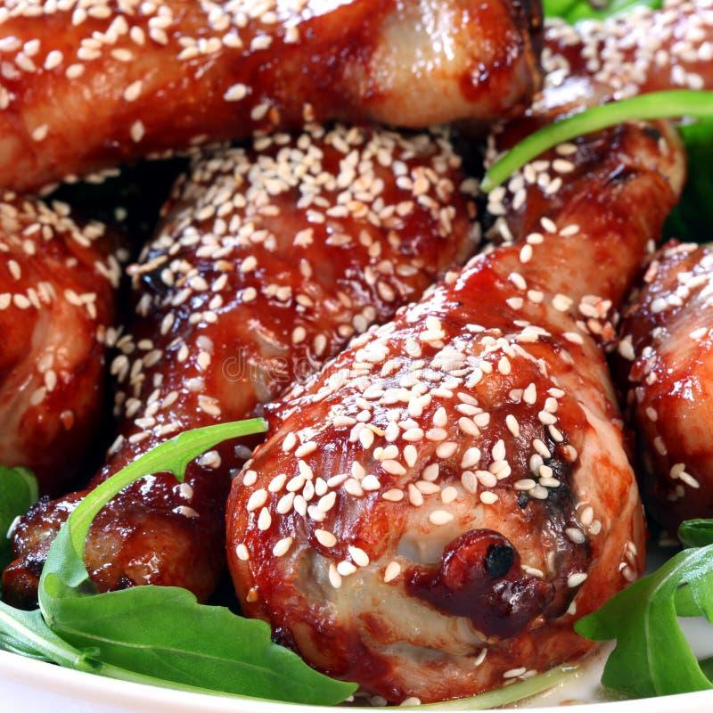 Download Chicken Drumsticks stock photo. Image of legs, sesame - 31734818