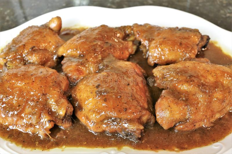Chicken drumsticks to honey a very popular meal royalty free stock photography
