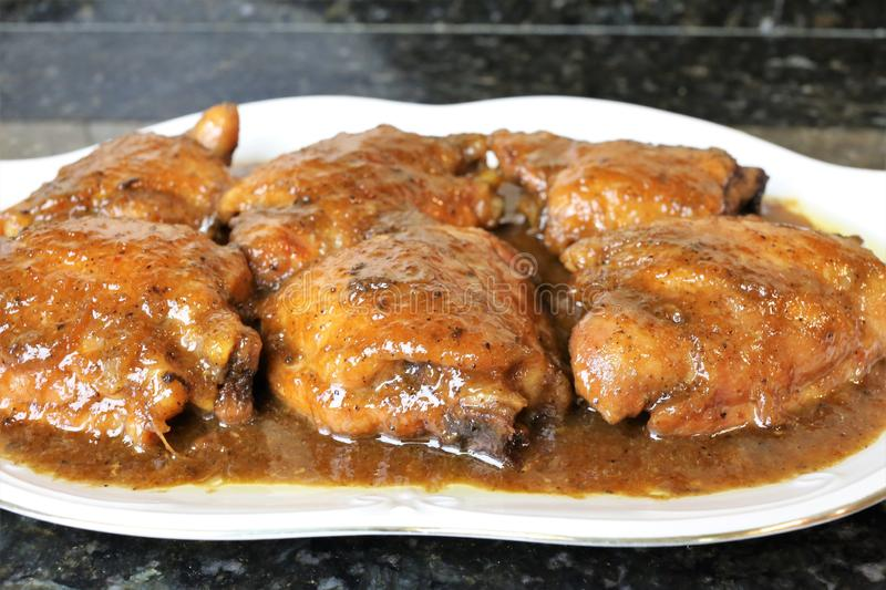 Chicken drumsticks to honey a very popular meal stock photo