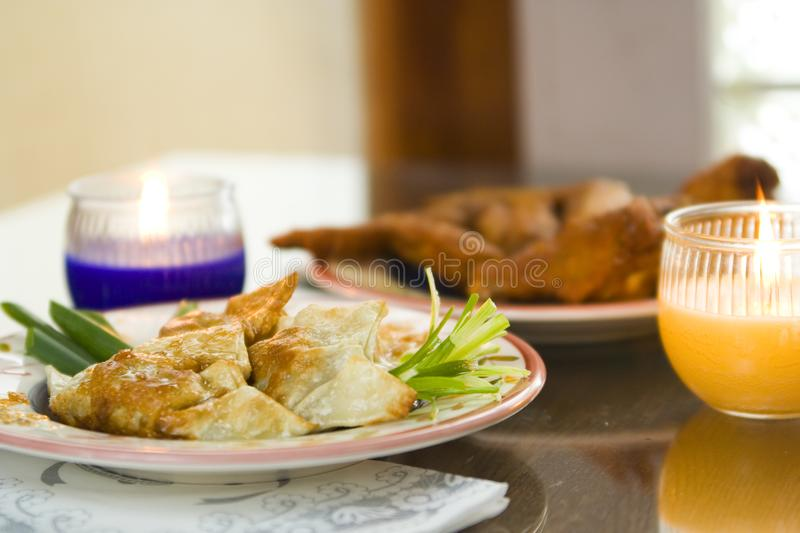 Chicken Dumpling And Chicken Wings 2 royalty free stock images