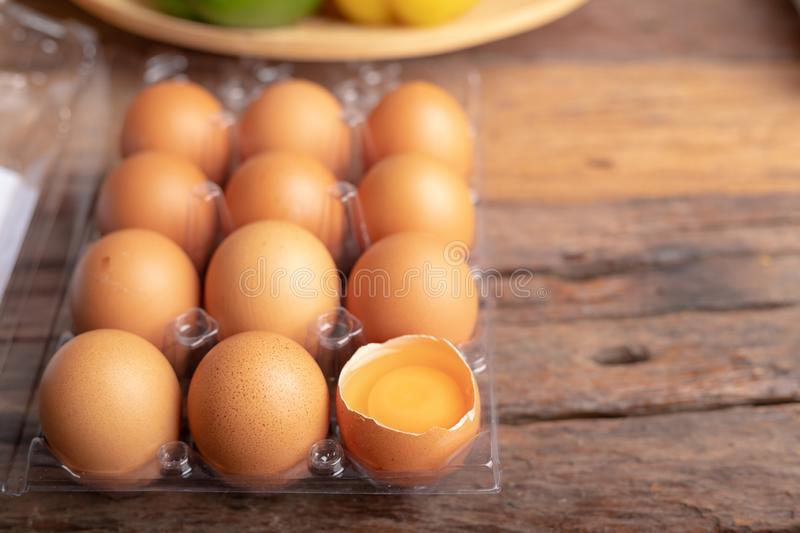 Chicken eggs are rich in high quality protein stock photos