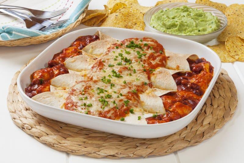 Chicken Enchiladas royalty free stock photo