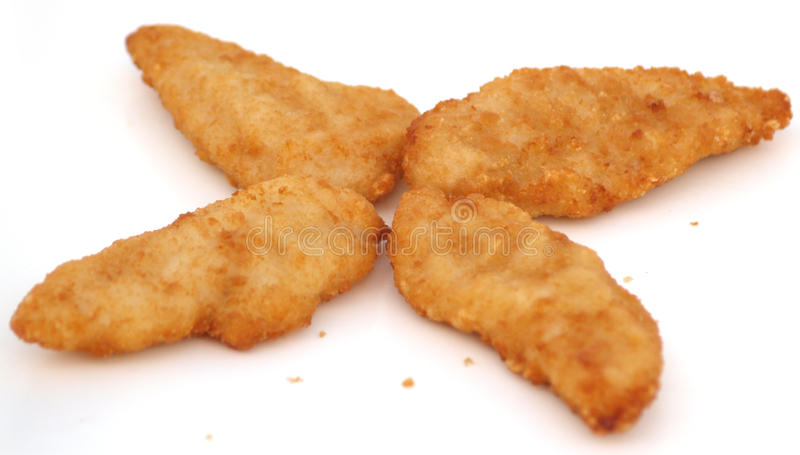 Chicken Fillets. Crisp brown Freshly Baked Chicken Fillets royalty free stock photos