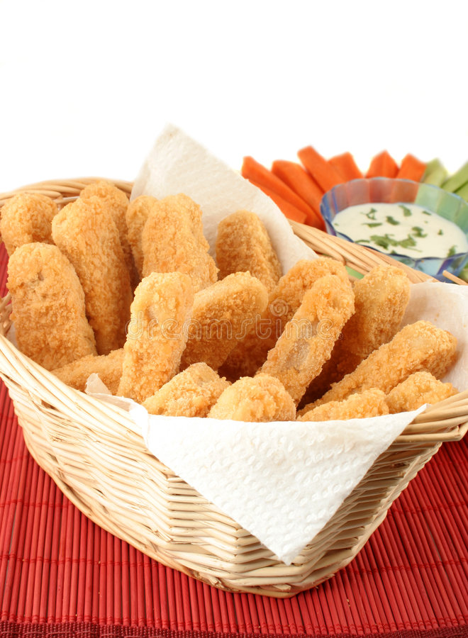 Download Chicken fingers stock photo. Image of celery, coated, battered - 1519244