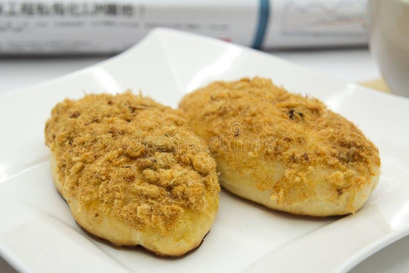 Download Chicken floss bun stock photo. Image of newspaper, food - 20172664