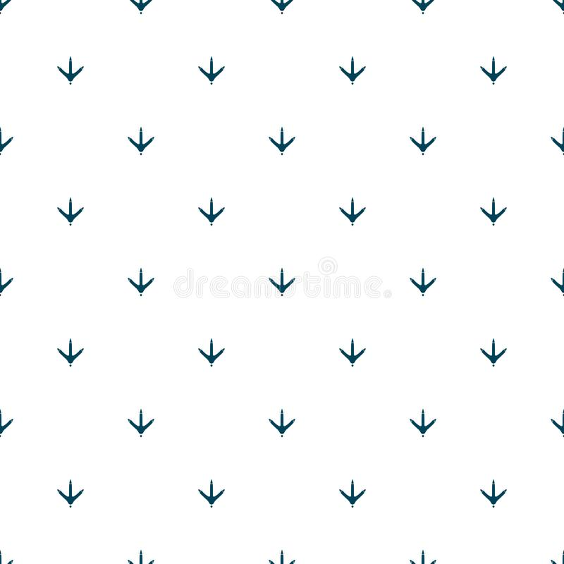Chicken footprint seamless pattern for the fabric, wallpaper, banner. Chicken footprint seamless pattern for the fabric, wallpaper, banner stock illustration