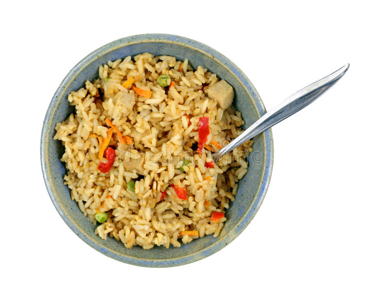 Download Chicken Fried Rice Bowl Spoon Stock Image - Image: 33390103