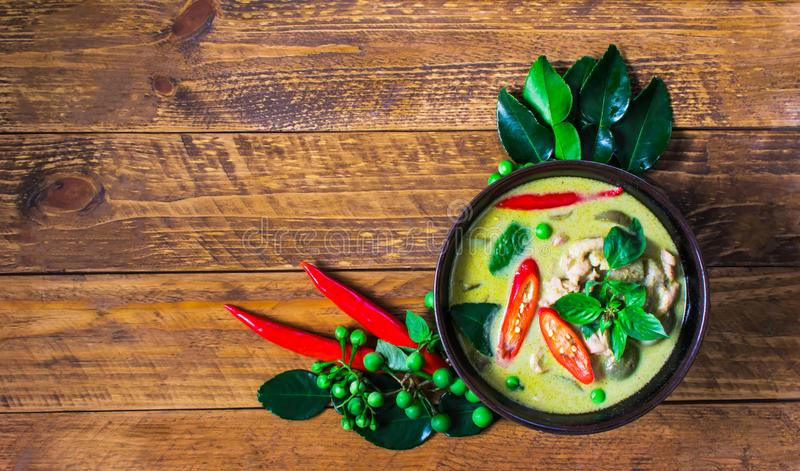 Chicken Green Curry. royalty free stock images