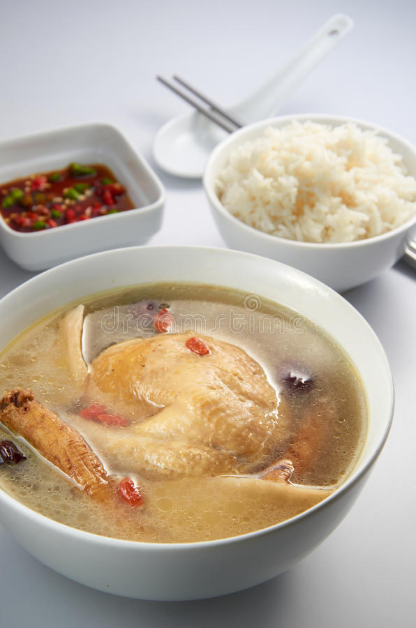 Chicken Herb Soup stock images